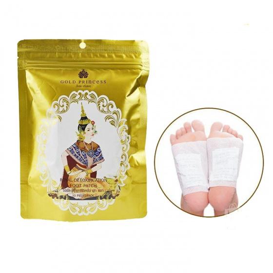 (Sản phẩm Thái) miếng dán thải độc chân Gold Princess (10 miếng)