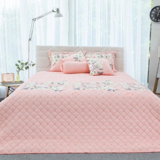 Bộ ga bọc đệm và vỏ gối cotton Grand HQS 158 - 180 x 200 cm