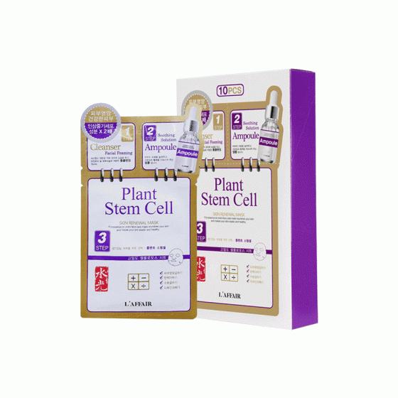 Hộp 10 miếng mặt  nạ dưỡng da chống lão hóa Rainbow L'affair Plant Stem Cell Skin Renewal Mask (10 miếng x 28ml)