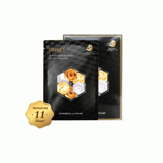 Mặt nạ chống lão hóa, mờ thâm nám, giữ ẩm, ngừa mụn Rainbow L'affair Honey Mask (11 miếng x 30ml)