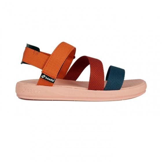 Giày sandal nam nữ Saddo - màu ghi đậm đế cao