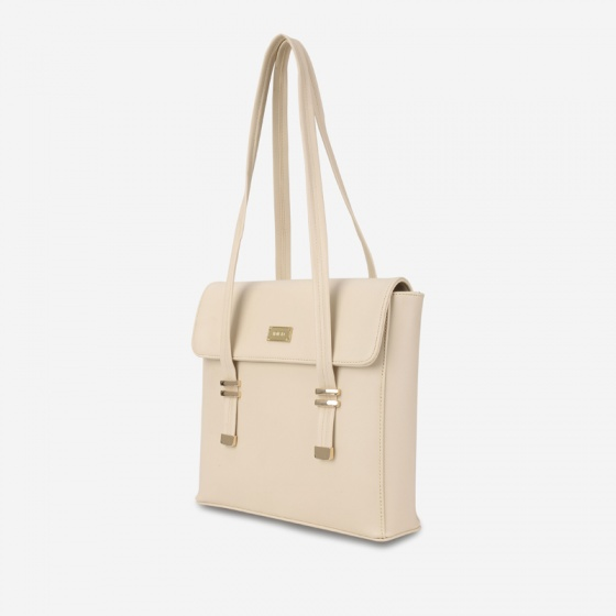 Túi hộp đeo vai nữ chi tiết khoá nịt IDIGO FB2-426-00