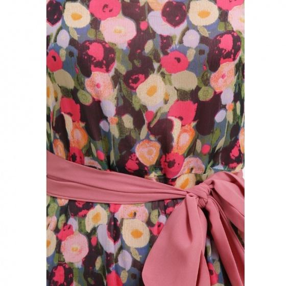 Đầm maxi tay cánh tiên họa tiết hoa MD'M MD67525071-VI