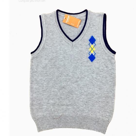 Áo len gile hình logo Vinakids màu ghi size 2-10