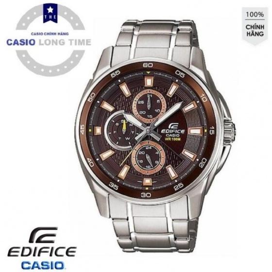 Đồng hồ nam Casio EF-334D-5AVUDF, chính hãng, dây kim loại, chống nước 10ATM