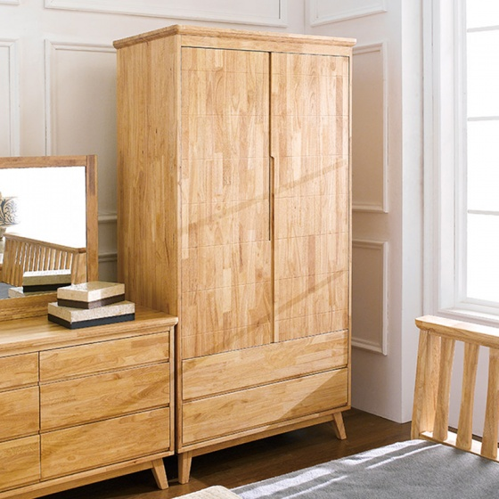 Tủ quần áo Ixora gỗ cao su 1m4 - Cozino
