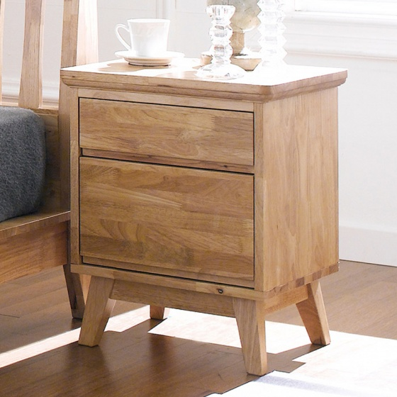 Tủ đầu giường Ixora 2 hộc gỗ cao su- Cozino