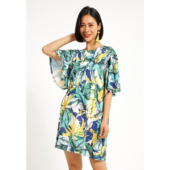 Đầm suông họa tiết hoa Cotton Brothers CB06S192302-PR