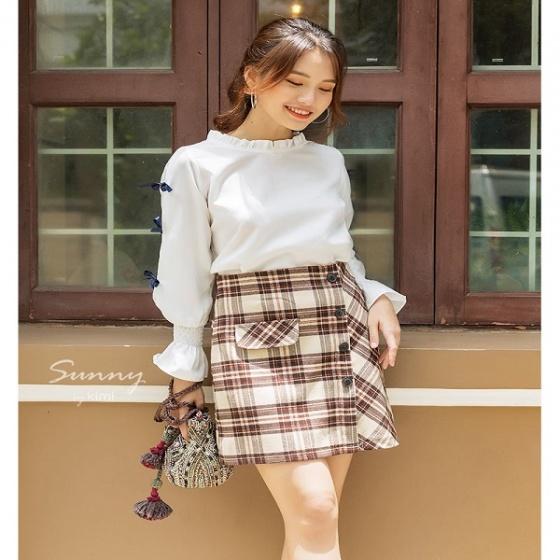 Chân váy caro lót quần  VN190024