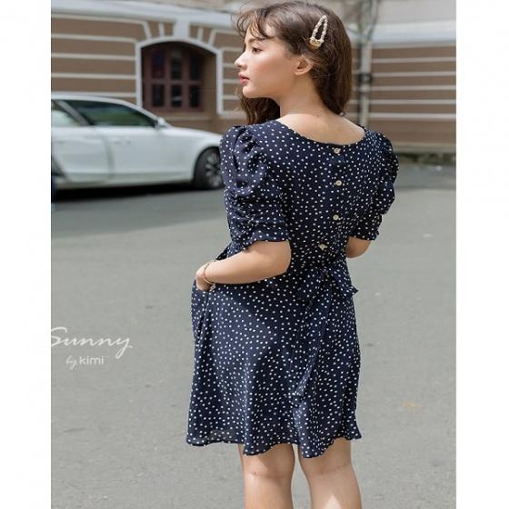 Đầm xòe hai túi AD190109