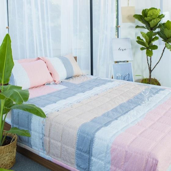 Bộ ga bọc đệm và vỏ gối cotton Grand - Ashita 27- 160 x 200 cm
