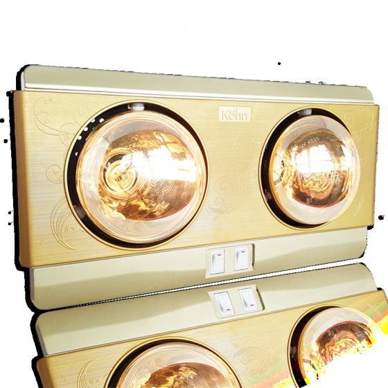 Đèn sưởi nhà tắm 2 bóng Kohn KP02G 550W - hàng chính hãng