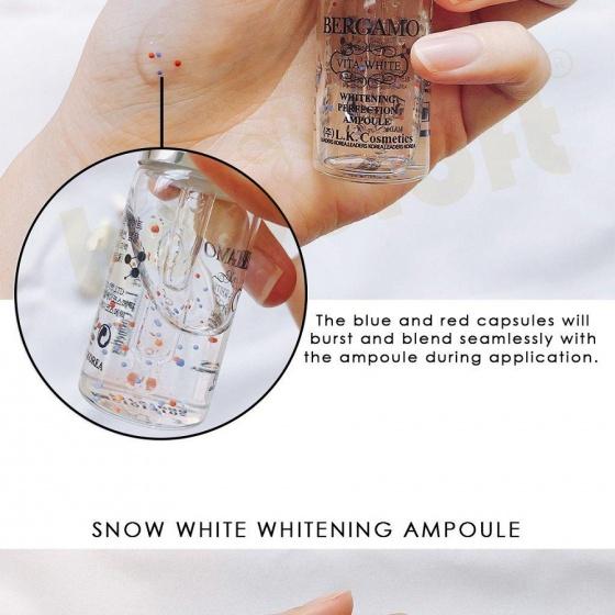 Set 4 tinh chất Serum Bergamo Snow White & Viva White Whitening Perfection Ampoule set