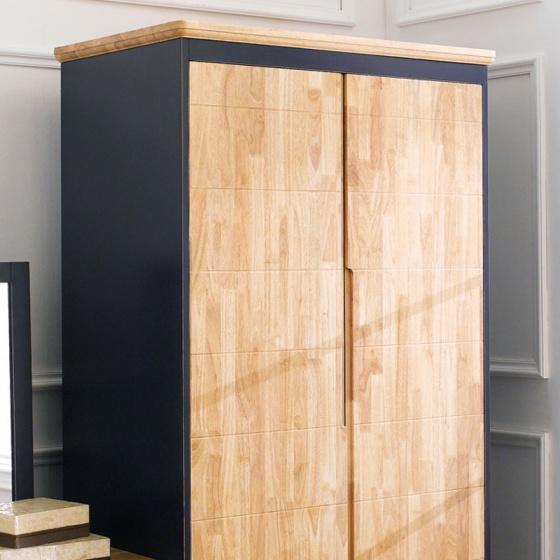 Tủ quần áo Lantana gỗ cao su 1m2 - Cozino