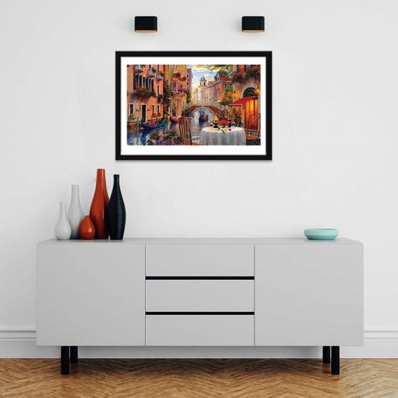 """Tranh phong cảnh """"Dòng Venice"""" tranh treo tường nước Ý W4050"""