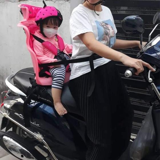 Ghế ngồi sau xe máy Beesmart X2 màu Hồng