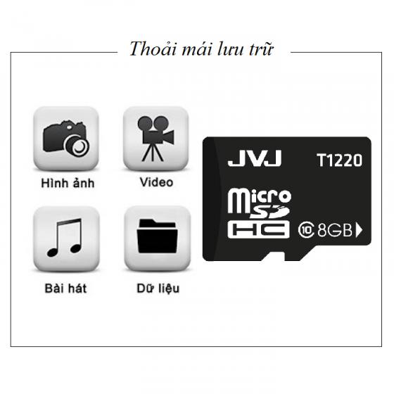 Thẻ nhớ JVJ 8G C10 tốc độ cao - Thẻ nhớ chuyên dụng