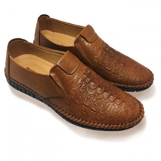 Giày lười nam da bò thật HS34