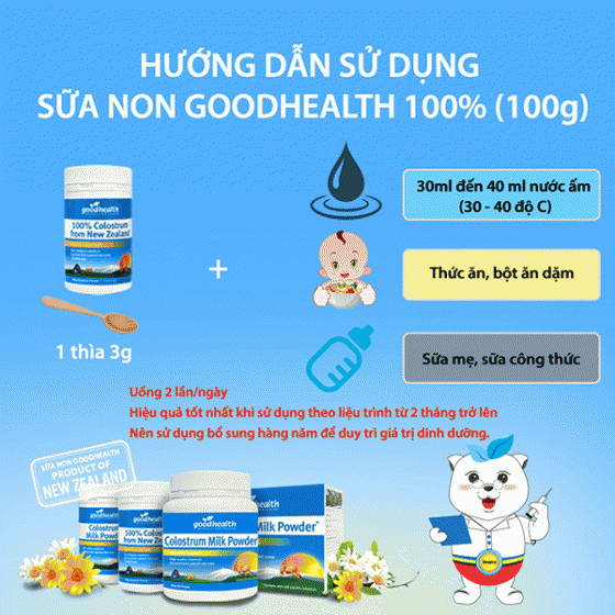 Sữa non Goodhealth New Zealand 100g - Goodhealth Colostrum Milk Powder 100%