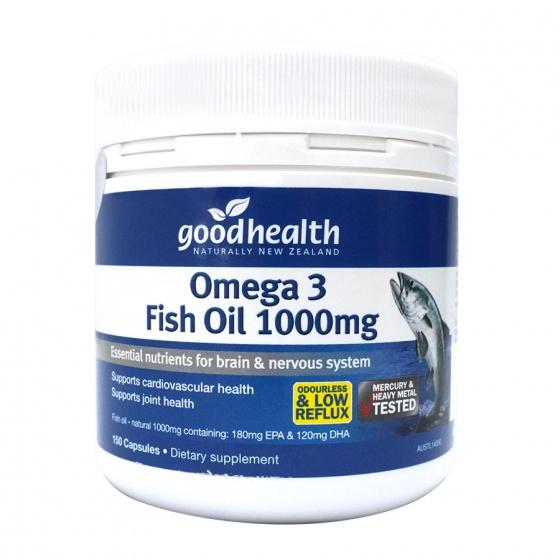 Dầu cá Omega 3 Fish Oil 150 viên Goodhealth Omega 3 Fish Oil 1000mg