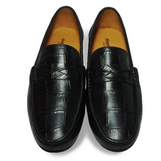 Giày lười nam da bò thật HS43