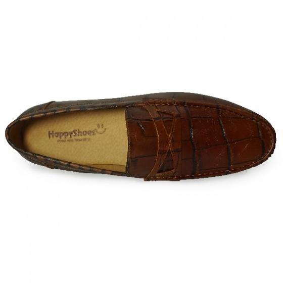 Giày lười nam da bò thật HS45