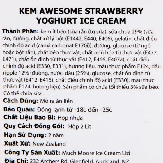 Kem dâu Strawberry Yogurt