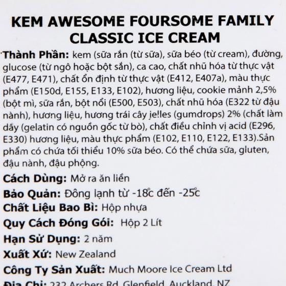 Kem 4 vị Foursome Family Classic