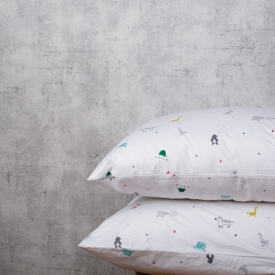 Bộ chăn drap cotton satin Hàn Quốc 5 món Animals Lover 02 1m6x2m