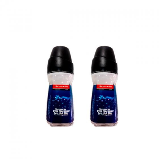 Combo 2 chai lăn khử mùi Pierre Cardin Deep Blue Sea 50ml