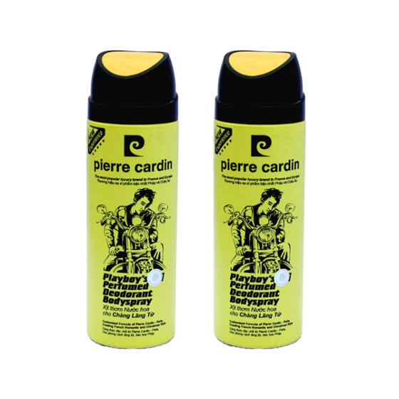 Combo 2 chai xịt thơm nước hoa Playboy Pierre Cardin - 200ml