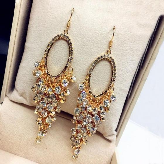Bông tai Hàn Quốc Luxury - Tatiana - BH1089 (vàng)