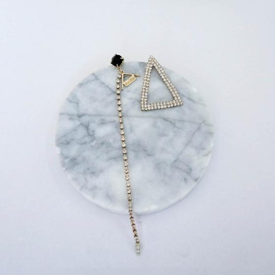 Bông tai bất đối xứng Triangle đá - Tatiana - BH1093