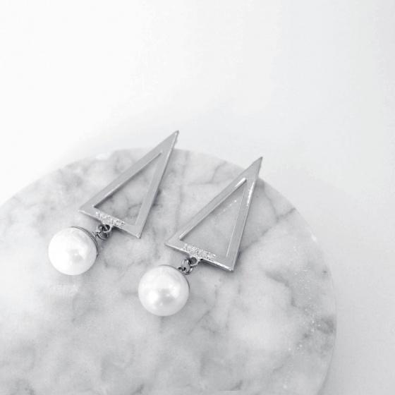 Bông tai Hàn Quốc Triangle Trai - Tatiana - BH1095
