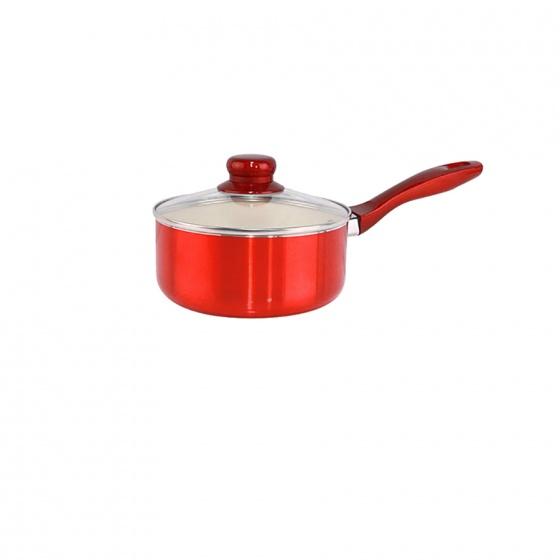 Bộ 4 nồi chảo tráng men Ceramic Mishio MK173 – màu đỏ