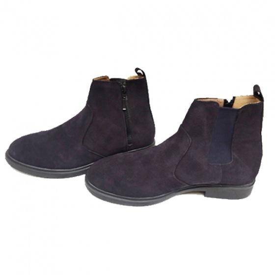 Giày doc nam boot kéo khóa và chun da bò lộn bảo hành 1 năm ( 2H - 63 ) tặng vi nam và tất khử mùi cao cấp