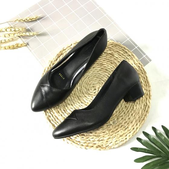 Giày cao gót nữ da thật cao 3cm khâu mũi 3CMKM ATA