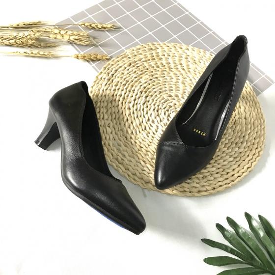 Giày cao gót nữ da thật cao 5cm khâu mũi 5CMKM ATA