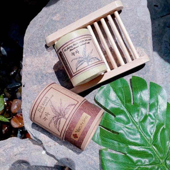 Quà tặng 20 tháng 10 - hộp quà xà phòng thiên nhiên rau má, nhàu, trà xanh