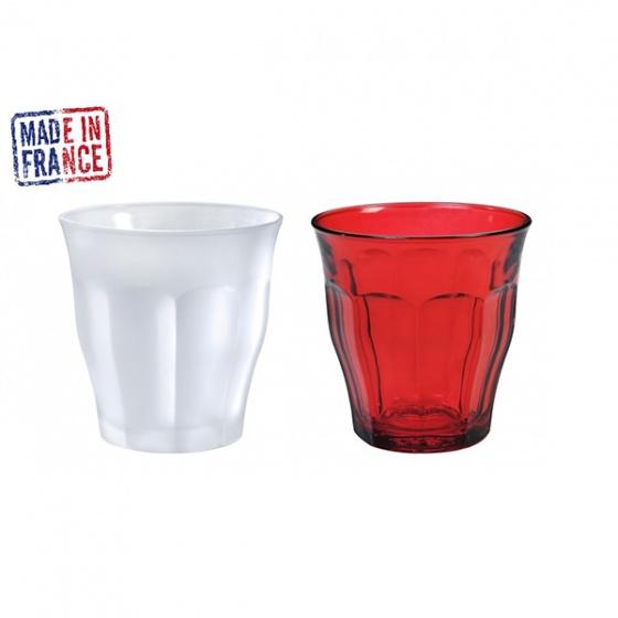 Bộ 2 ly thủy tinh chịu lực Duralex Pháp Picardie Mix color 250ml