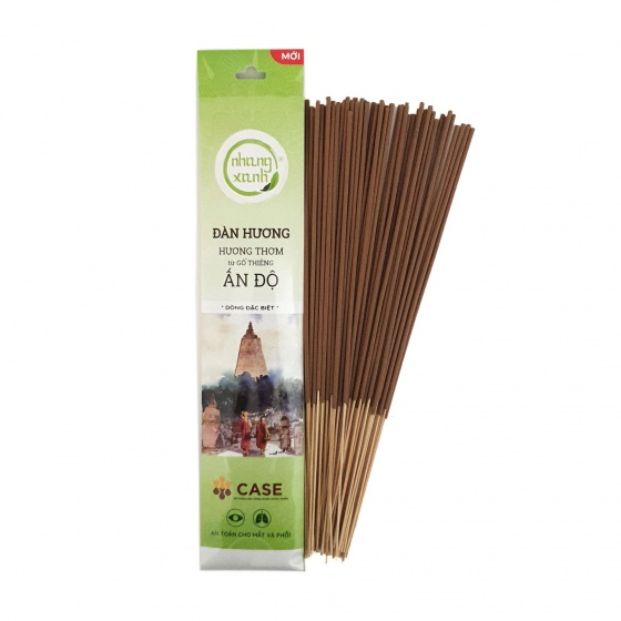 Nhang xanh đàn hương 30cm - 60g - bột gỗ từ Ấn Độ