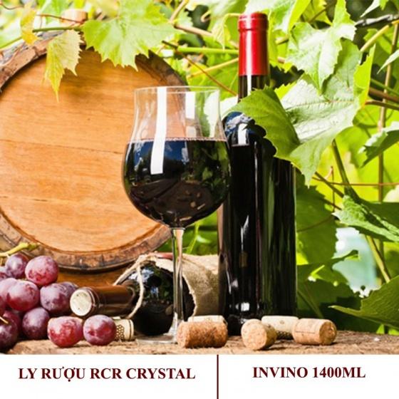 Bộ 2 ly rượu vang pha lê RCR Invino 1400ml (sản xuất tại Ý)