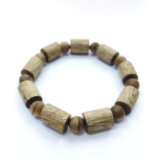 Vòng tay trầm hương tự nhiên đốt trúc - 14 ly - nhang thiền