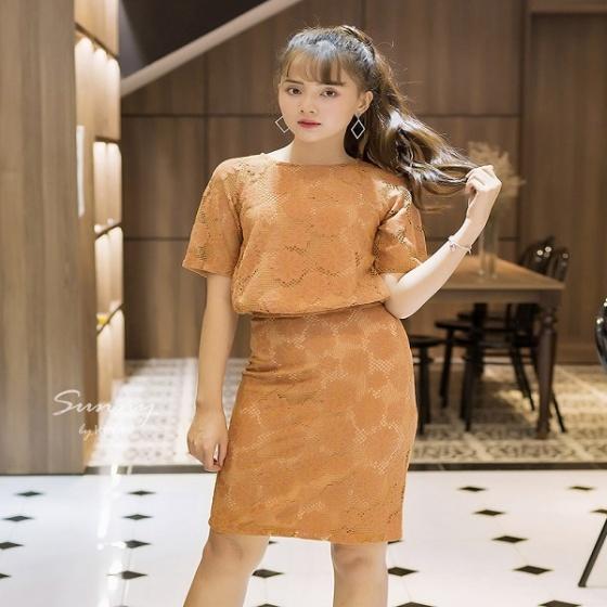Set áo và chân váy ren SV190003