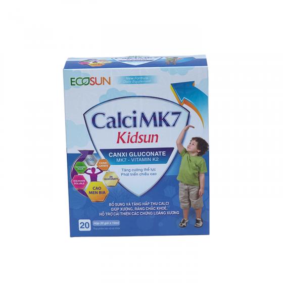 Calci MK7 Kid Sun giúp xương chắc khỏe và tăng chiều cao của trẻ