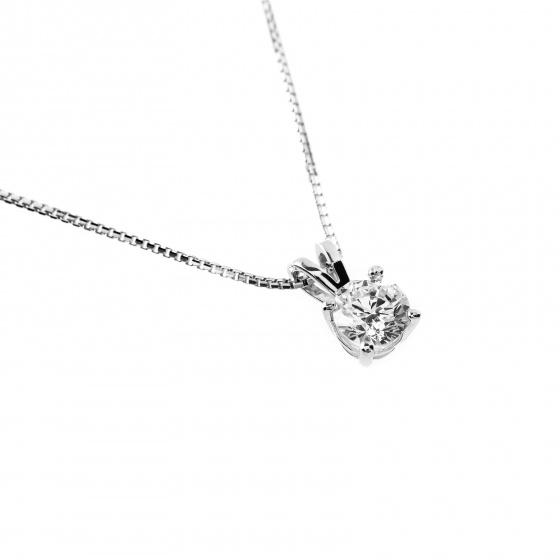 Mặt dây chuyền vàng trắng đính đá DOJI 14K 0819P-LAL445