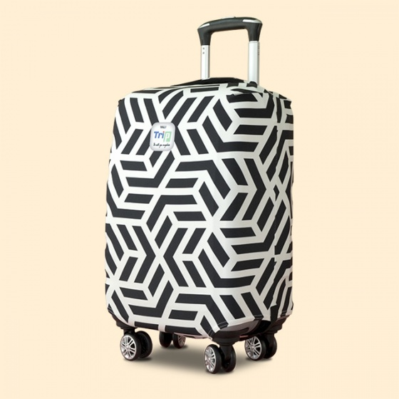 Túi bọc vali vải thun 4 chiều TRIP Geometric (đường viền) size L