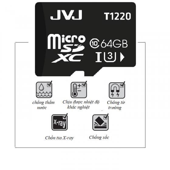 Thẻ nhớ JVJ micro SDHC 64G C10 - Thẻ nhớ tốc độ cao