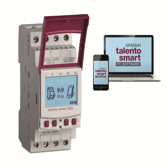Công tắc định thời gian thông minh Grasslin Talento Smart B25 - hàng nhập khẩu từ Đức