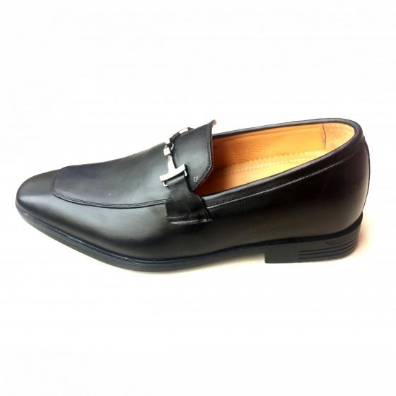 Giày tăng chiều cao nam da thật - giày da Geleli